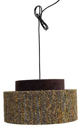 Cotton Velvet & Boucle Pendant Light with 6' Cord (Hardwire Only) DF2543