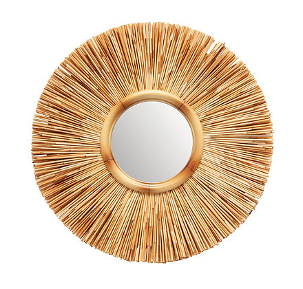 Round Reed Wall Mirror