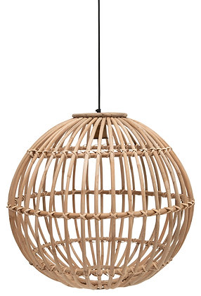 Large Round Handwoven Rattan Pendant Light with 6' Cord (Hardwire Only) DF2541