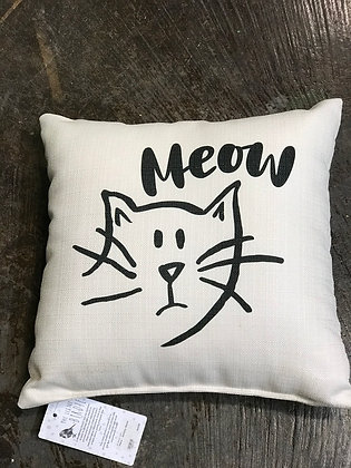Pillow - Sketchy Meow - Made in MS