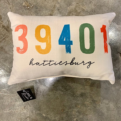 Multi Distressed 39401- Mississippi Made Pillow