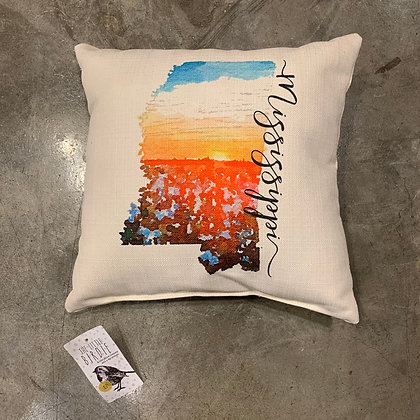 Cotton State Pillow (Sunset) - Mississippi Made Pillow
