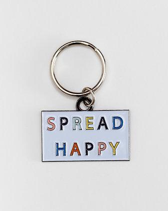 Spread Happy Keychain