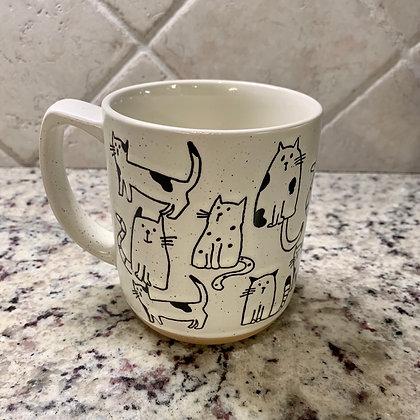 Hand Drawn Cat Mug