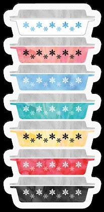 Pyrex Inspired Sticker
