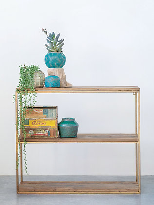 Wood & Metal Wall Shelf DF1155