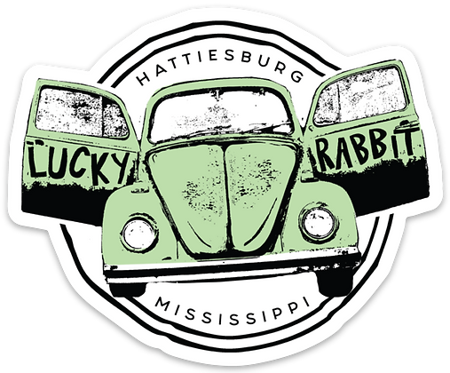 Green Lucky Rabbit VW Sticker