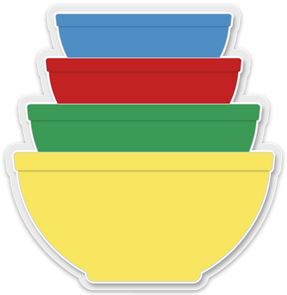 Primary Mixing Bowl Sticker