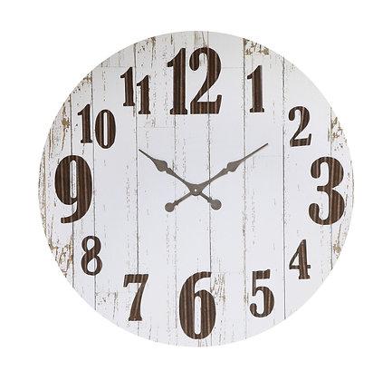 Black & White Wood & Metal Wall Clock DA5149