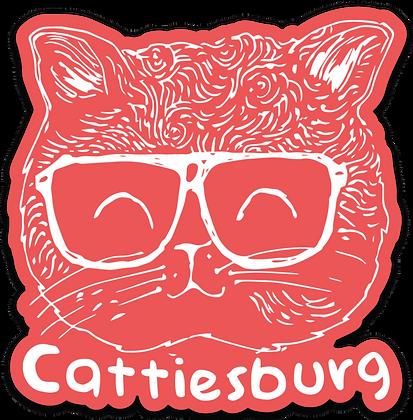 Red Cattiesburg Sticker