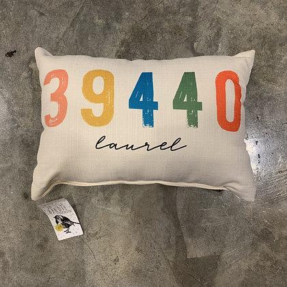 Multi Distressed Laurel 39440 Mississippi Made Pillow