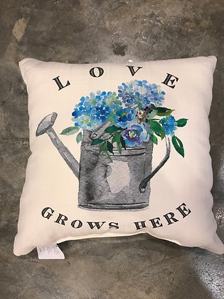 Pillow - Love Grows Here Hydrangeas