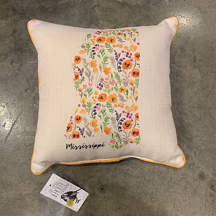 Full Floral Pattern - Mississippi Made Pillow
