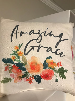 Pillow - Amazing Grace Camille Floral - Made in MS