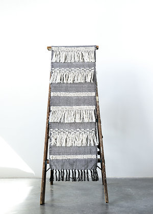 Cotton Blend Table Runner with Fringe Throughout DA8939