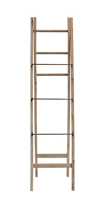 "2-Sided 71""H Decorative A-Frame Fir Wood Ladder with Metal & Wood Rungs DF2708"