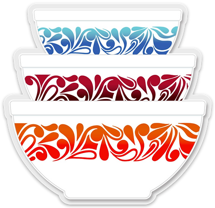 Pyrex Inspired Stacking Bowl Sticker