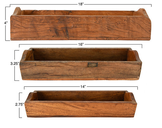 Set of 3 Found Wood Boxes (each one will vary)  DA9063