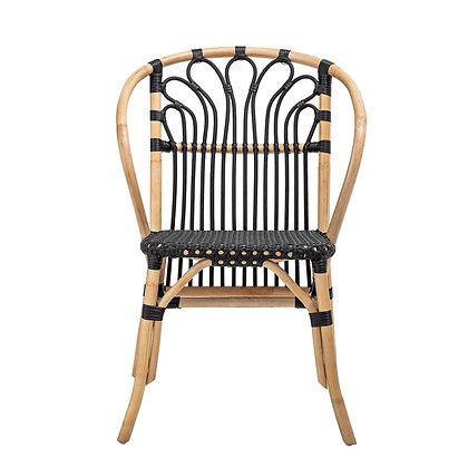 Handwoven Black Rattan Chair