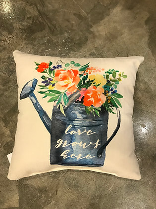 Pillow - Love Grows Here Watering Can
