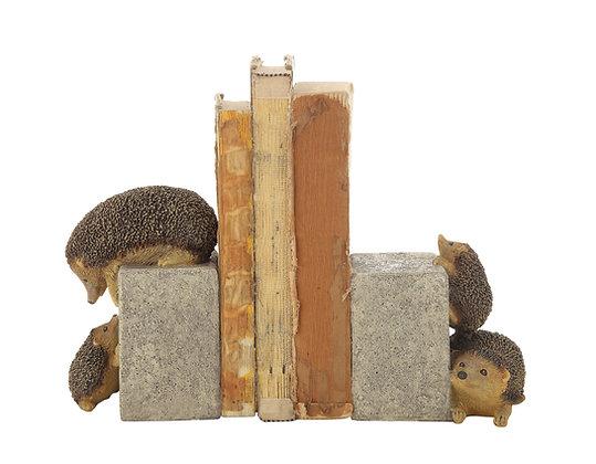 Brown & Grey Resin Hedgehog Bookends (Set of 2 Pieces) DF1463