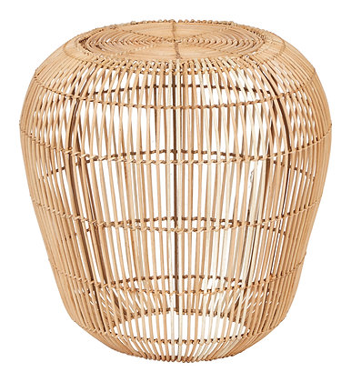 """18.5""""H Handwoven Rattan Accent Table with Metal Frame"""