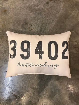Pillow - Grey Distressed 39402 - Made in MS