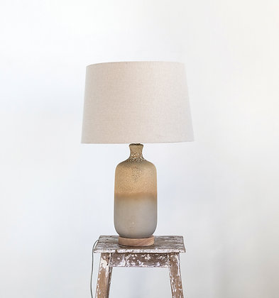 2-Tone Ceramic Table Lamp with Reactive Glaze Finish & Linen Shade DF1936