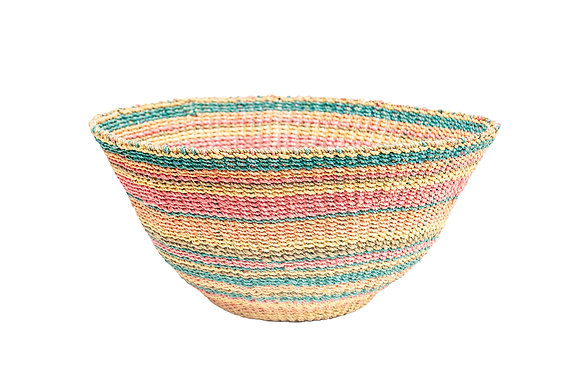 Abaca Multicolor Stripes Wallbasket