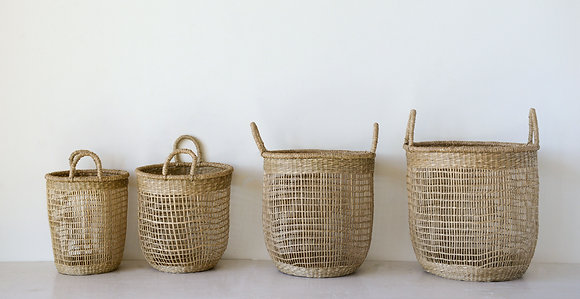 Handwoven Natural Seagrass Baskets (Set of 4 Sizes)  DA8869