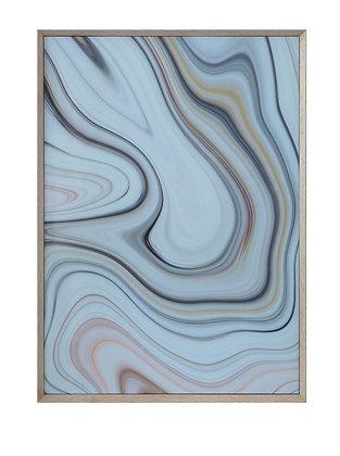 Swirled Agate Wall Art with Grey Wood Frame