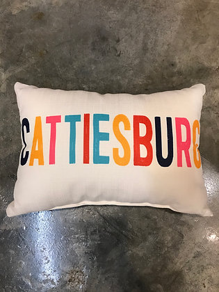 Pillow - Cattiesburg Multi Color -Made in MS