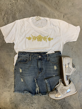 Comfort Colors Butterfly Gold Inspired Tee