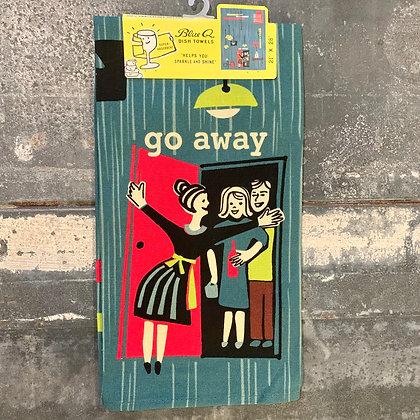 Go Away Tea Towel