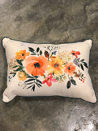 Pillow - Floral Centerpiece Piped -Made in MS