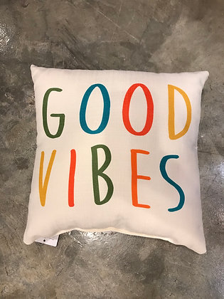 Pillow - Good Vibes - Made in MS
