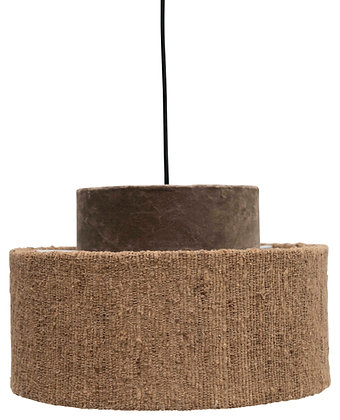 Cotton Velvet & Boucle Pendant Light with 6' Cord (Hardwire Only) DF2542