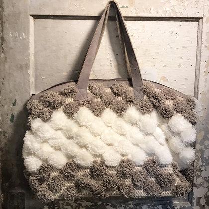 Oversize Pom Pom Bag