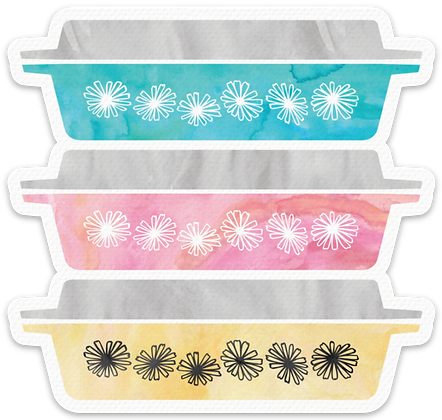Stackable Pyrex Inspired Sticker