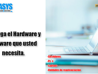 Obtenga el hardware y software que usted necesita.