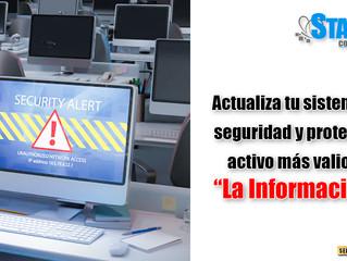 Actualiza tu sistema de seguridad.