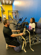 Mehakdeep Minhas (SCI) is using the adductor with our specialist Jacob Calhoun.