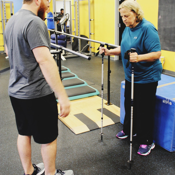 Project Walk Houston Client Spotlight - Linda Mabe - Standing - Spinal Cord Injury / Stroke