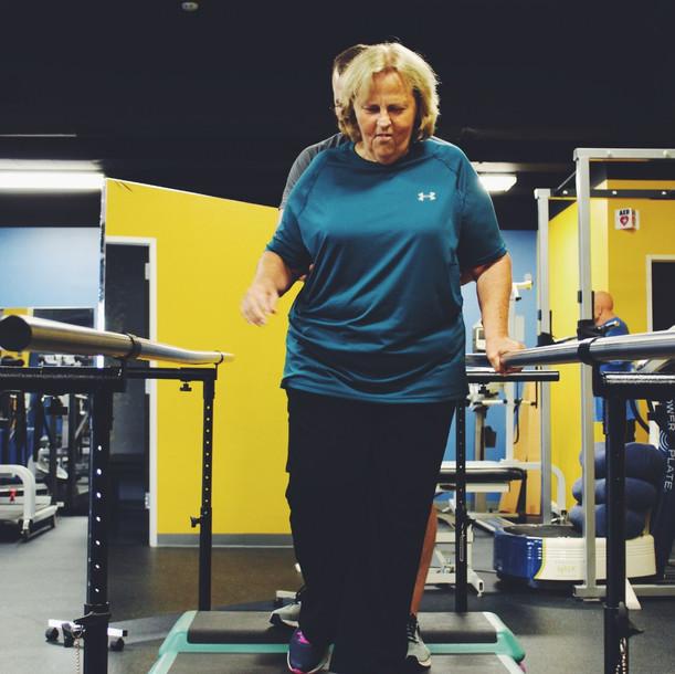 Project Walk Houston Client Spotlight - Linda Mabe - Walking Steps - Spinal Cord Injury / Stroke
