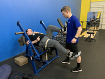 Clif Shoemake (TBI) is using the Hip Glute with our specialist Nathan Smeester.