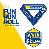 2018 Project Walk Fun Run & Roll Medal