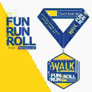2018 Project Walk Fun Run & Roll Medal