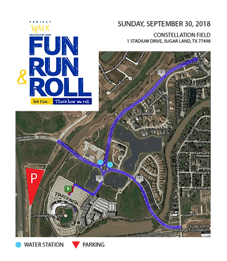 2018 Project Walk Fun Run & Roll Course Map