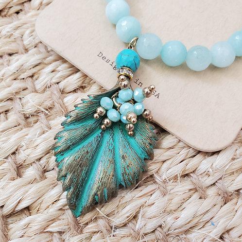 Sea Breeze leaf bracelet