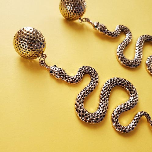 Bold Snake Earrings
